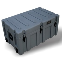 Plastic Case HD Grey with x2 wheels (890mm wide)